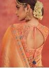 Embroidered Work Grey and Peach Trendy Lehenga Choli - 1