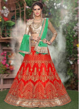 A Line Lehenga Choli For Ceremonial