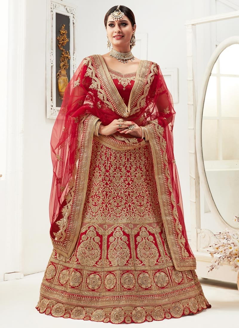 A - Line Lehenga For Bridal