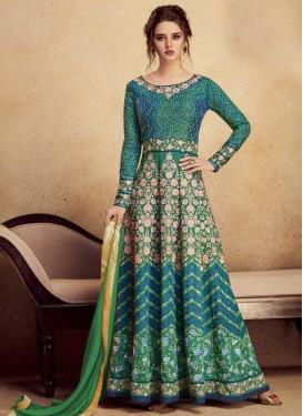 Aari Work Art Silk Trendy Anarkali Salwar Kameez
