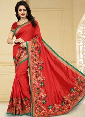 Aari Work Contemporary Saree