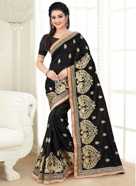 Aari Work Contemporary Style Saree