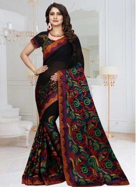 Aari Work Contemporary Style Saree