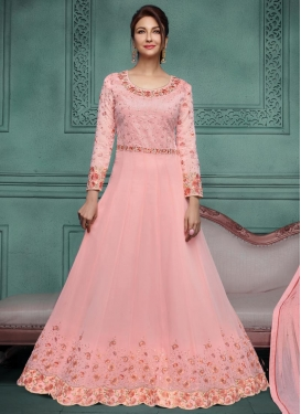 Aari Work Floor Length Anarkali Salwar Suit