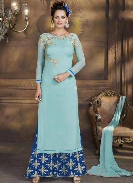 Aari Work Palazzo Style Pakistani Salwar Suit
