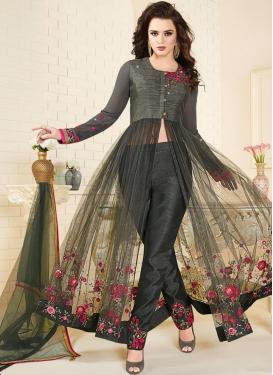 Aari Work  Pant Style Designer Salwar Kameez