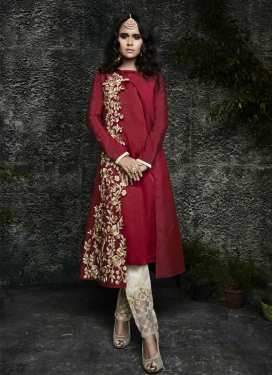 Aari Work Pant Style Designer Salwar Kameez For Ceremonial