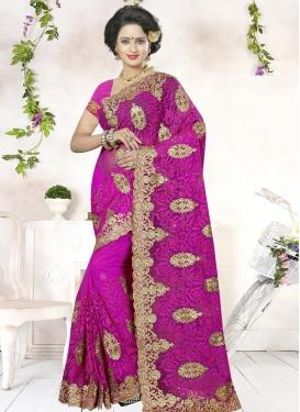 Aari Work Traditional Saree