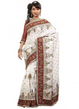 Absorbing Bhagalpuri Silk Designer Saree
