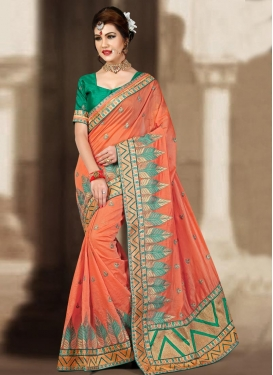 Absorbing Booti Work Trendy Classic Saree