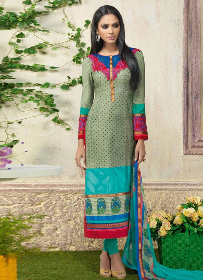 Admirable Crepe Silk Churidar Suit
