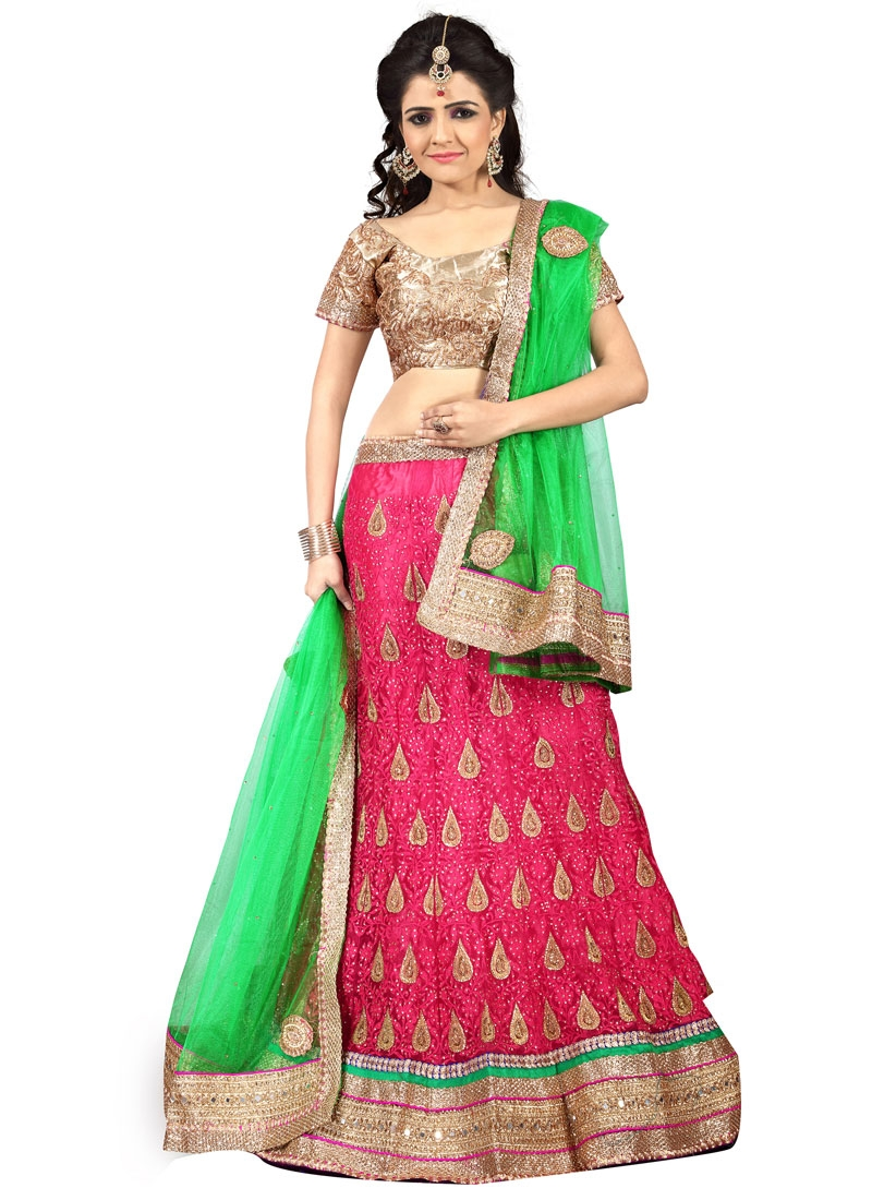 Admirable Embroidery Work Wedding Lehenga Choli