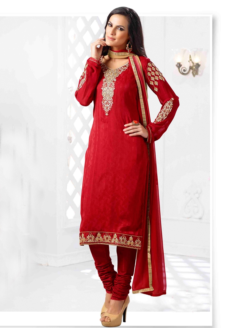 Admirable Karachi Work Churidar Salwar Suit