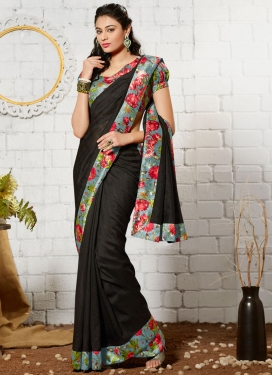 Admirable Lace Work Art Silk Casual Saree