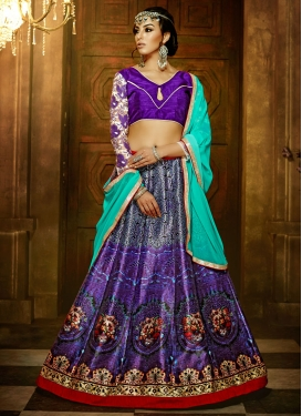 Admirable Lace Work Banglori Silk Party Wear Lehenga Choli