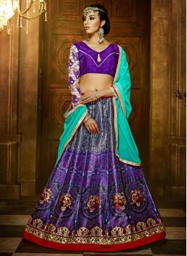Admirable Lace Work Banglori Silk Party Wear Lehenga Choli