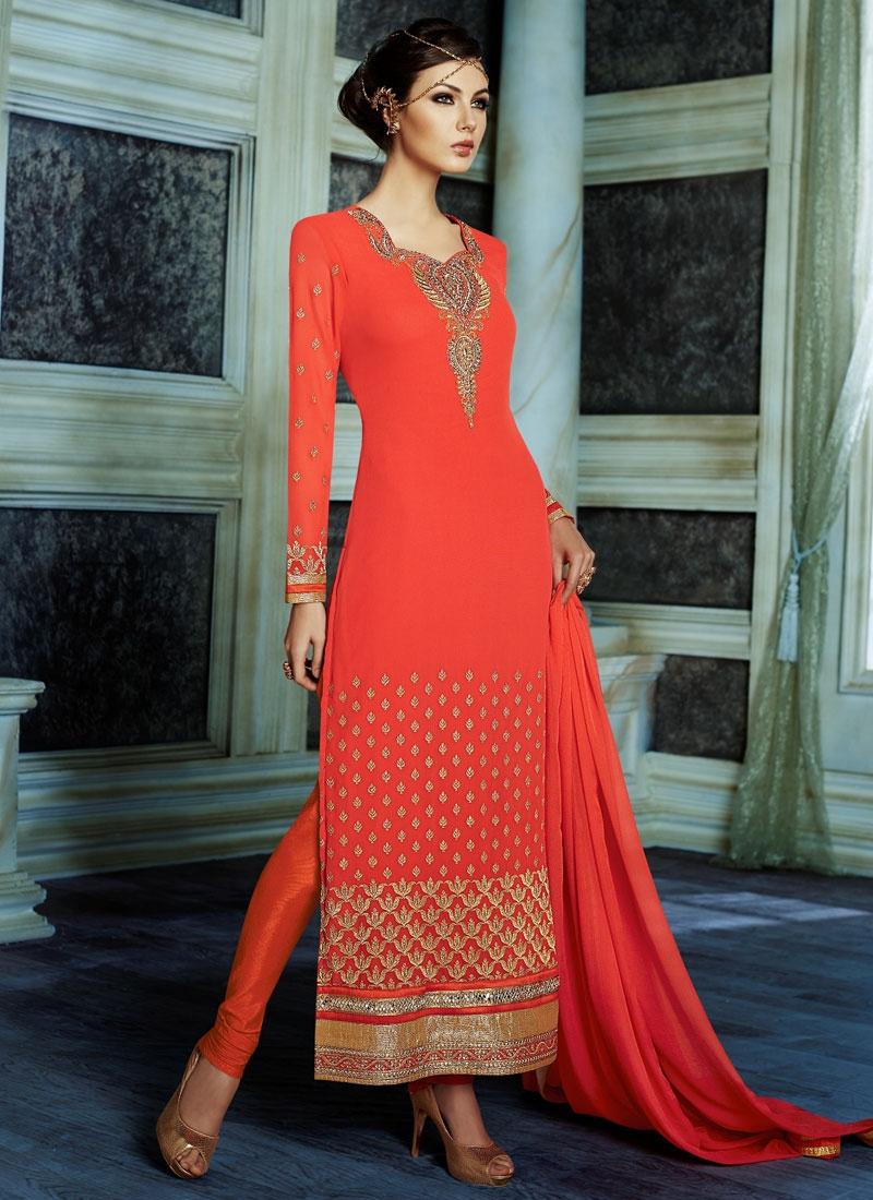 Admirable Lace Work Long Length Pakistani Suit