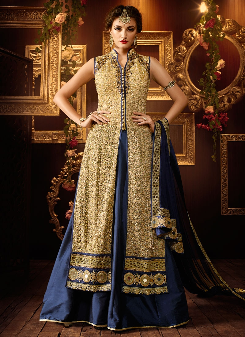 Admirable Mirror Work Kameez Style Designer Lehenga Choli