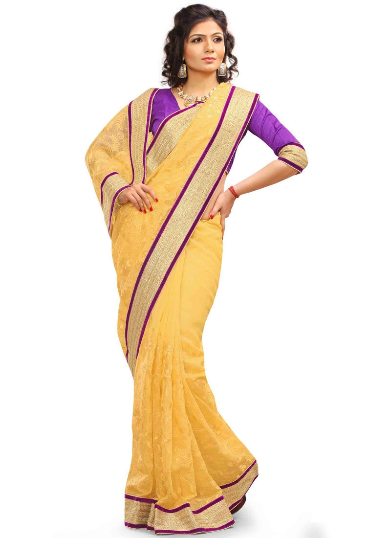 Admirable Net Embroidery Work Party Wear Saree