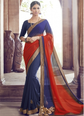 Admirable Resham And Stone Work Party Wear Saree