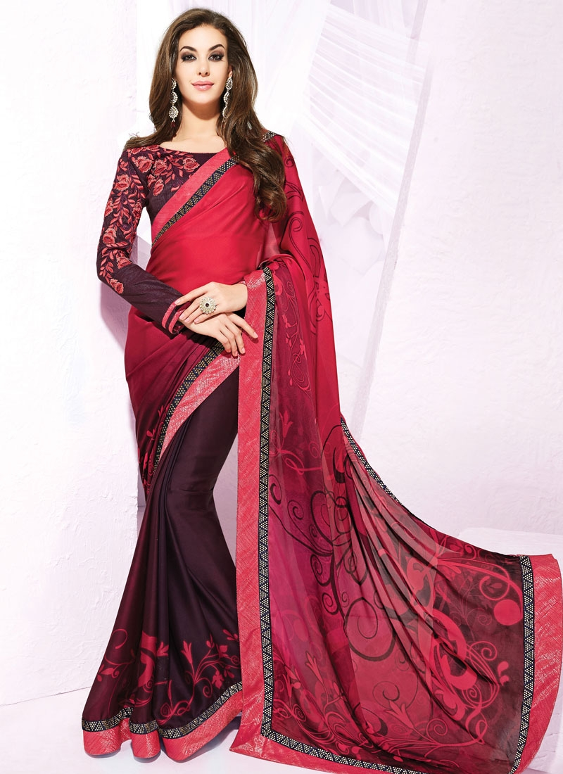 Admirable Stone And Lace Work Party Wear Saree