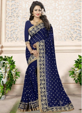 Adorable  Beads Work Contemporary Saree