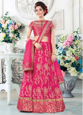 Adorable Jacquard Silk A Line Lehenga Choli