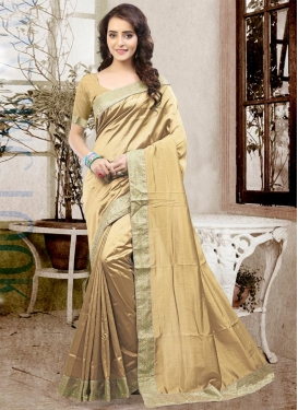 Adorable Lace Work Art Silk Classic Saree