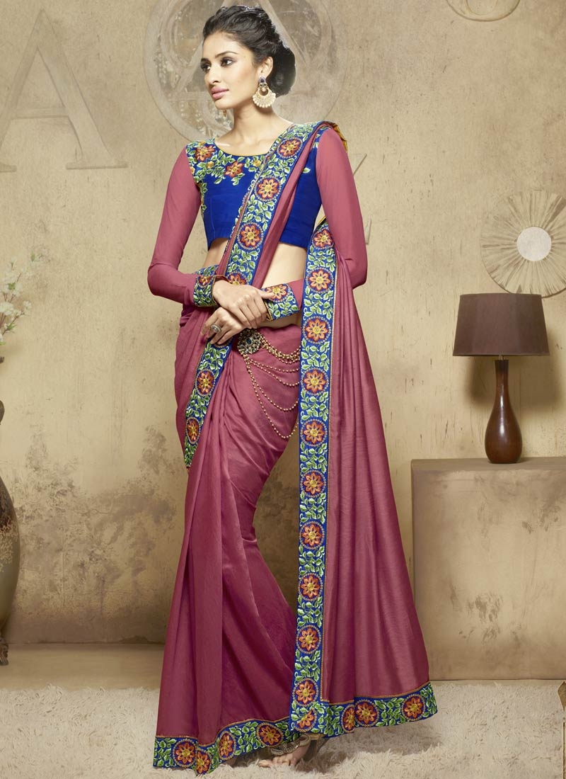 Adorable Viscose Resham Work Party Wear Saree