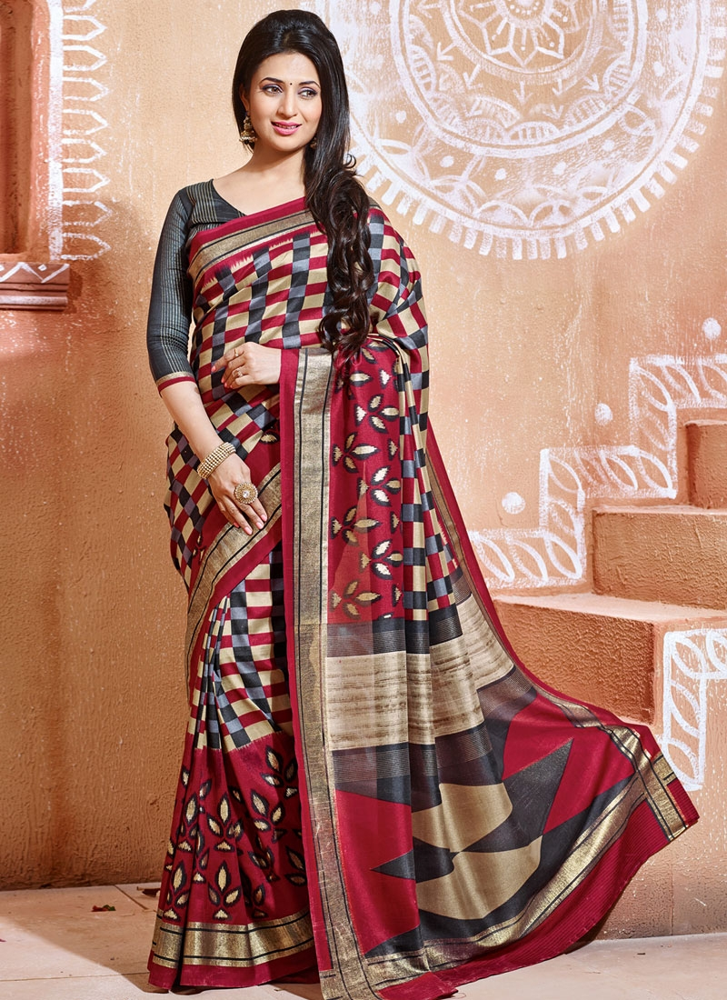 Adorning Art Silk Printed Divyanka Tripathi Casual Saree