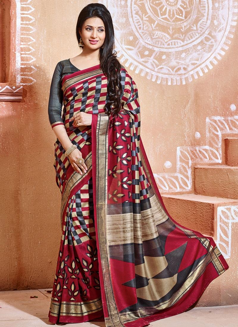 Adorning Art Silk Printed Divyanka Tripathi Casual Saree
