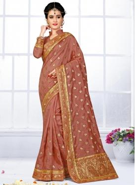 Adorning Bhagalpuri Silk Embroidered Work Classic Saree For Ceremonial