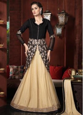 Adorning Bhagalpuri Silk Kameez Style Designer Lehenga Choli