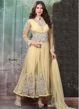 Adorning Booti And Lace Work Readymade Wedding Suit