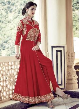 Adorning  Booti Work Designer Salwar Suit
