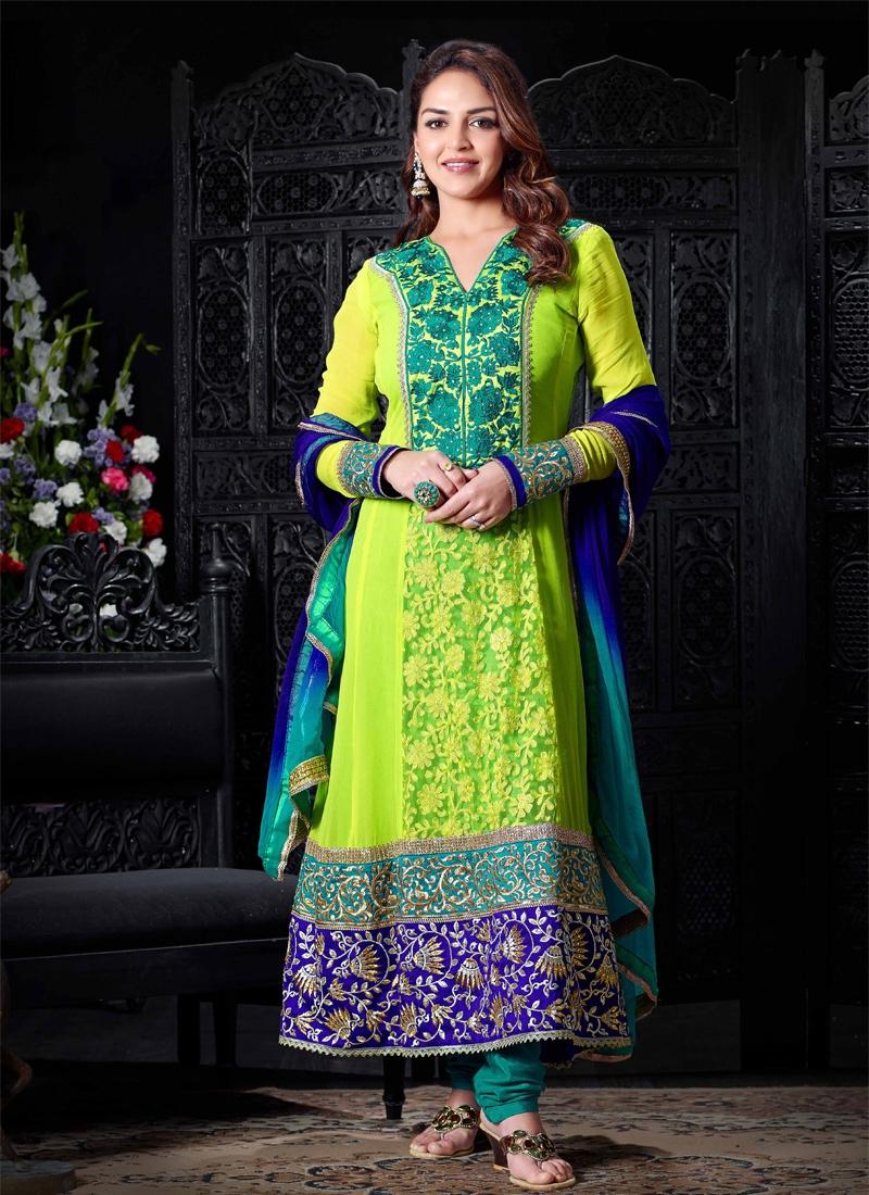 Adorning Jaal Enhanced Esha Deol Salwar Suit