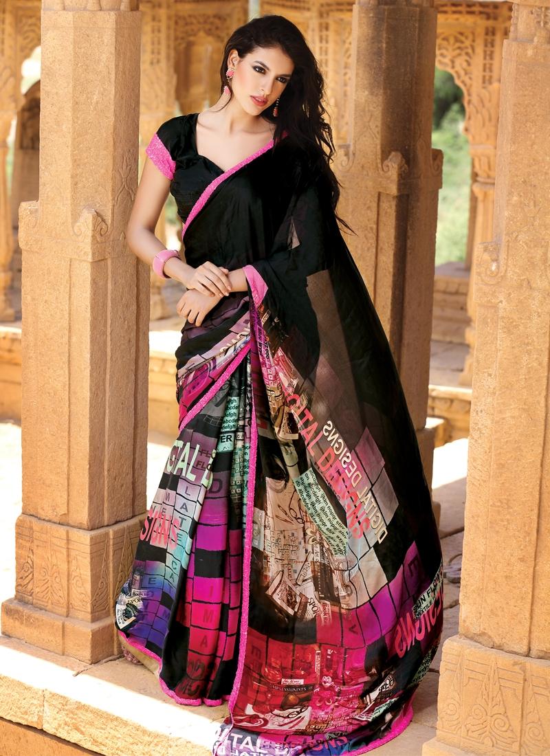 Adorning Multi Color Party Wear Saree