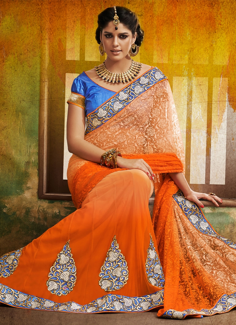 Aesthetic Chicken Work Lehenga Saree