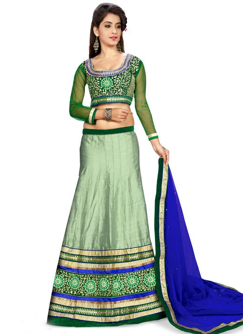 Aesthetic Mirror Work Silk Designer Lehenga Choli