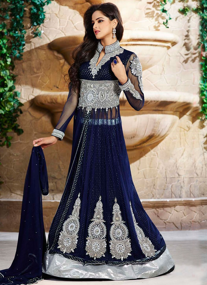 Aesthetic Navy Blue Color Designer Lehenga Choli