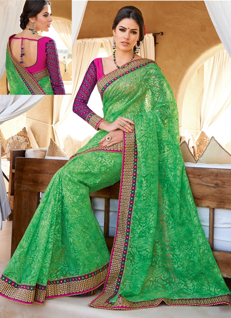 Aesthetic Patch Enhanced Party Wear Saree