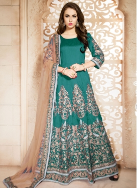 Affectionate Banglori Silk Ankle Length Designer Suit