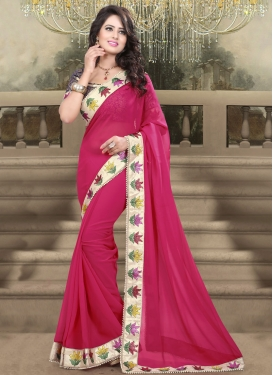 Affectionate Beads Work Party Wear Saree