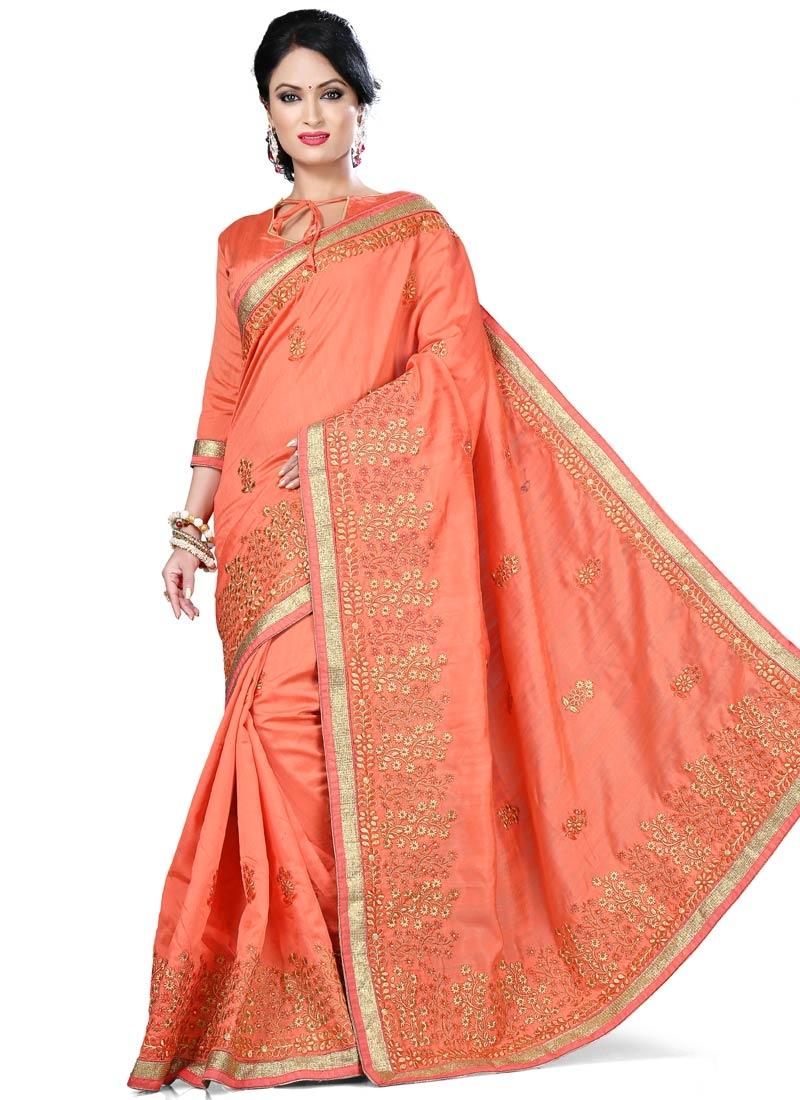 Affectionate Bhagalpuri Silk Resham Work Party Wear Saree