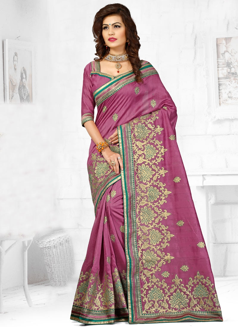 Affectionate Bhagalpuri Silk Stone Work Designer Saree