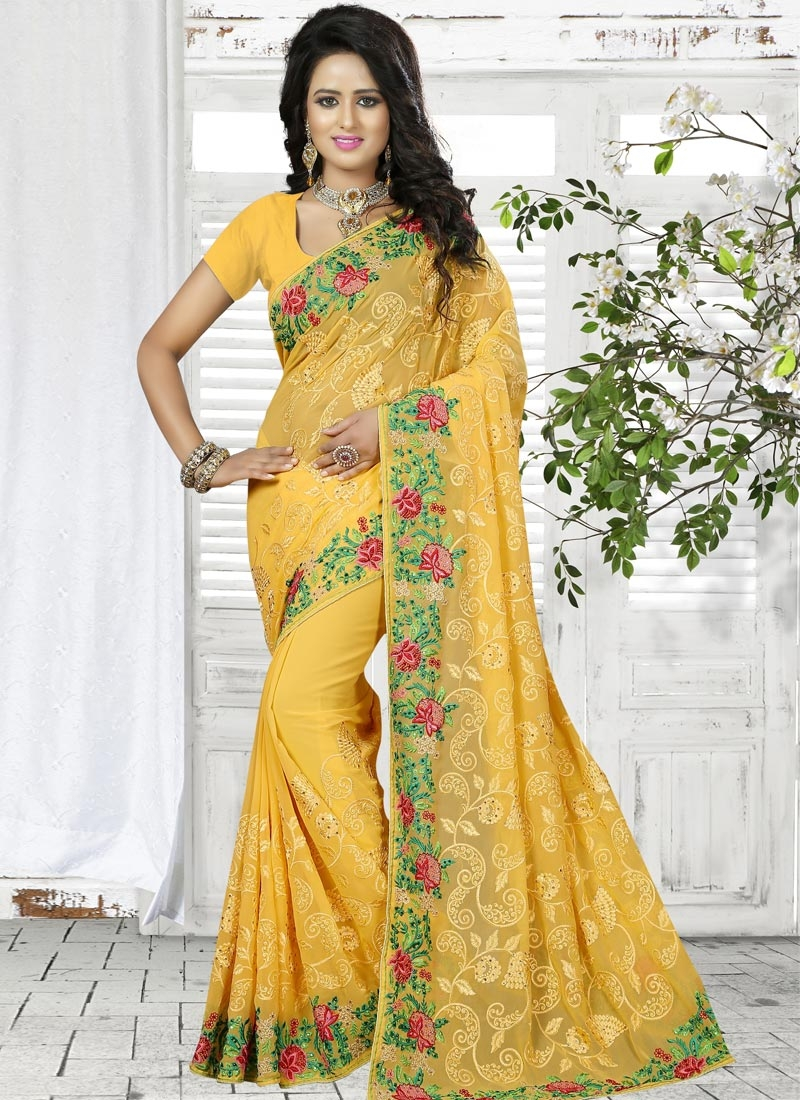 shop affectionate contemporary saree online in germany. Black Bedroom Furniture Sets. Home Design Ideas