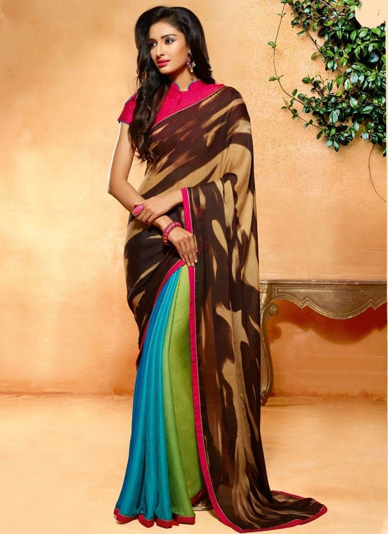 Affectionate Digital Print Work Casual Saree