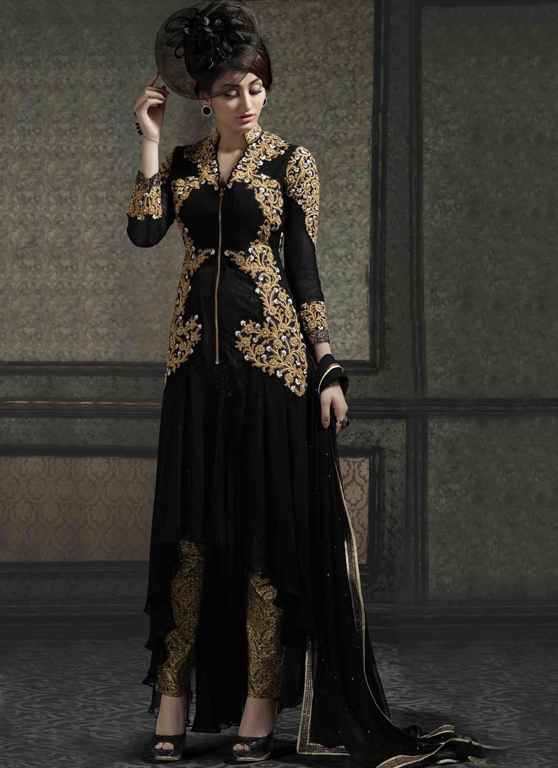 Affectionate Embroidery Work Pant Style Designer Suit
