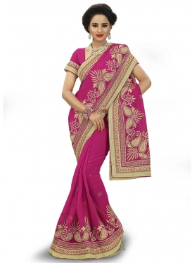 Affectionate Embroidery Work Party Wear Saree