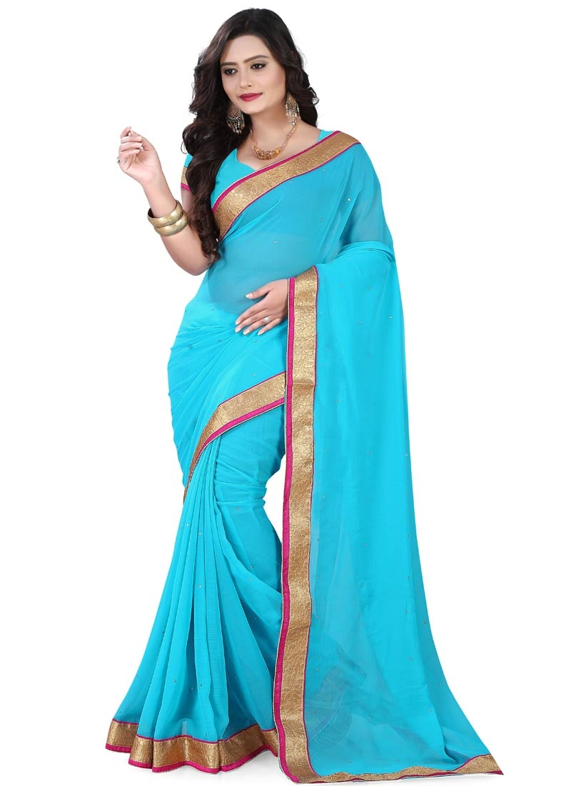 Affectionate Faux Chiffon Casual Saree